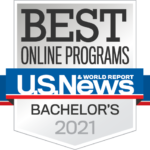 U.S. News and World Report Best Online Programs, Bachelor's 2021