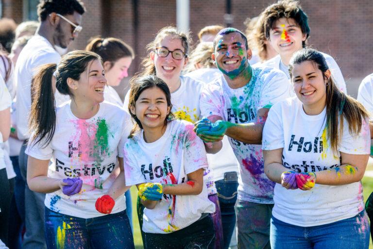 Holi Fest Color Throw